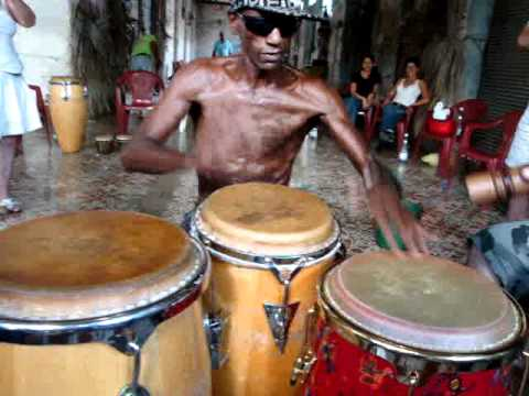 afrocuban drums in ceremony in cuba