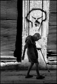 old woman by cuban photographer cañibano